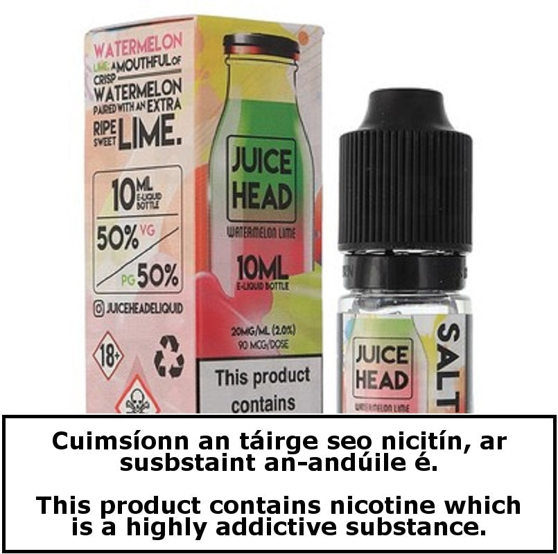 Juice Head - Watermelon Lime - Nic Salt - 10ml