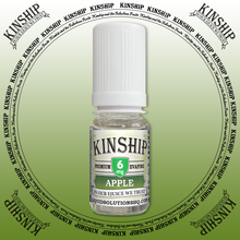 Kinship eJuice, Apple flavoured with 6mg nicotine.