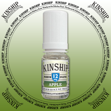 Kinship eJuice, Apple flavoured with 12mg nicotine.