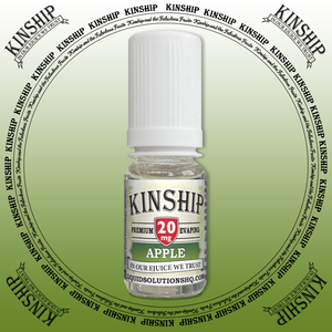 Kinship eJuice, Apple flavoured with 20mg nicotine.