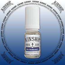 Kinship eJuice, blueberry flavoured with 0mg nicotine.