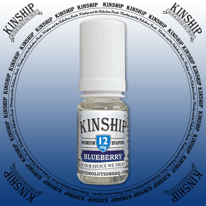 Kinship eJuice, blueberry flavoured with 12mg nicotine.