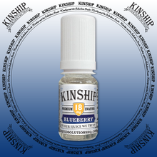 Kinship eJuice, blueberry flavoured with 18mg nicotine.