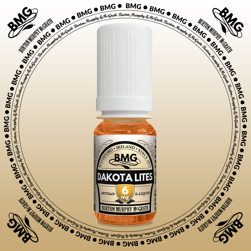 BMG eJuice, tobacco flavoured with 6mg nicotine.