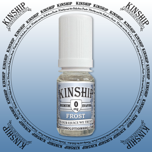 Kinship eJuice, frost flavoured with 0mg nicotine.