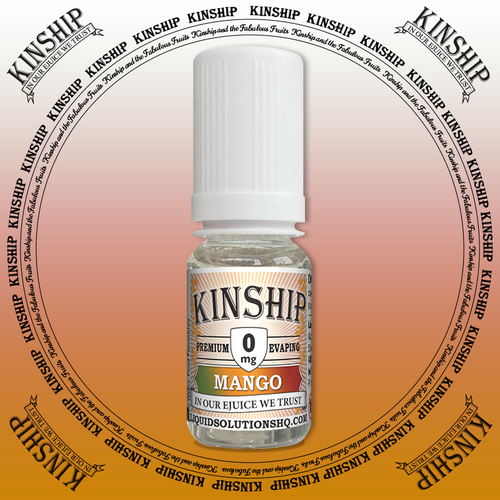 Kinship eJuice, mango flavoured with 0mg nicotine.