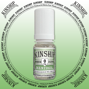 Kinship eJuice, methol flavoured with 0mg nicotine.
