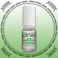 Kinship eJuice, methol flavoured with 6mg nicotine.