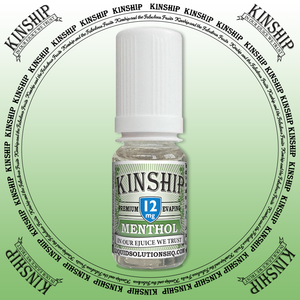 Kinship eJuice, methol flavoured with 12mg nicotine.