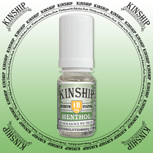 Kinship eJuice, methol flavoured with 18mg nicotine.