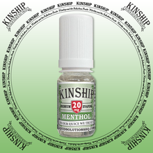 Kinship eJuice, methol flavoured with 20mg nicotine.