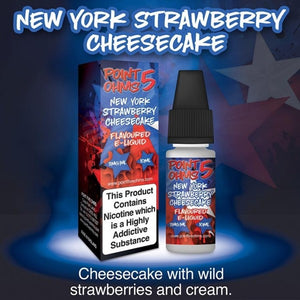 Point Five Ohms - New York Strawberry Cheesecake - 10ml- 50/50