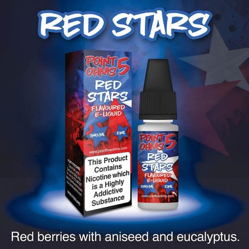 Point Five Ohms - Red Stars - 10ml- 50/50
