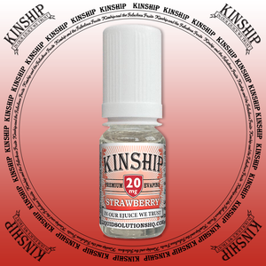 Kinship eJuice, strawberry flavoured with 20mg nicotine.
