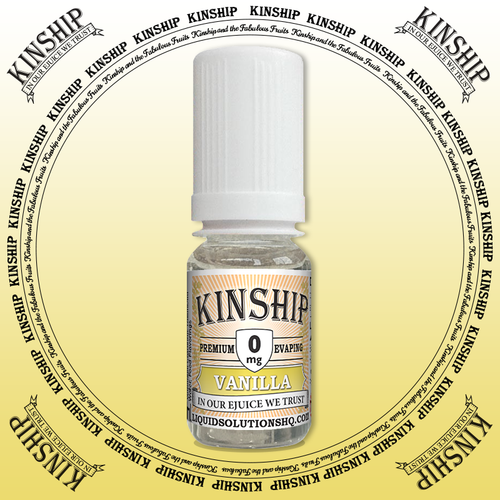 Kinship eJuice, vanilla flavoured with 0mg nicotine.