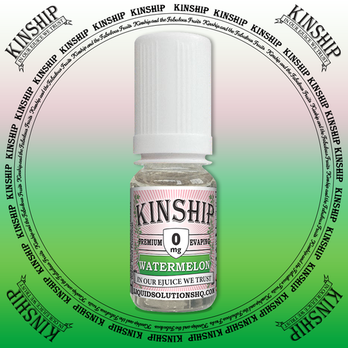 Kinship eJuice, watermelon flavoured with 0mg nicotine.