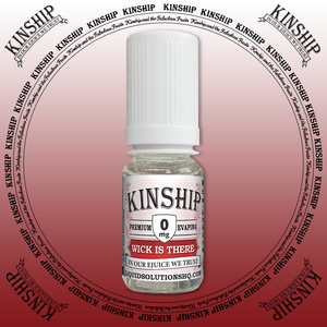 Kinship eJuice, wick is there flavoured with 0mg nicotine.