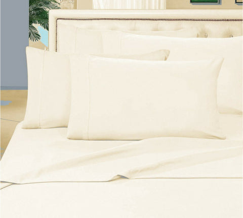 Egyptian Cotton Sheet Set 1000 Thread Count - Ivory