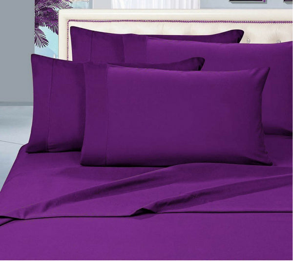 Egyptian Cotton Sheet Set 1000 Thread Count - Dark Purple