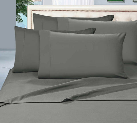Egyptian Cotton Sheet Set 1000 Thread Count - Pewter-Dark Grey