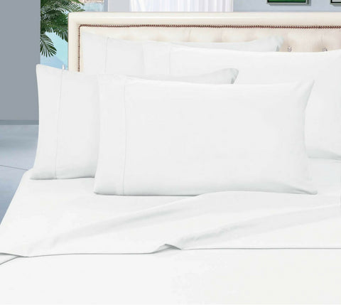 Egyptian Cotton Sheet Set 1000 Thread Count - White
