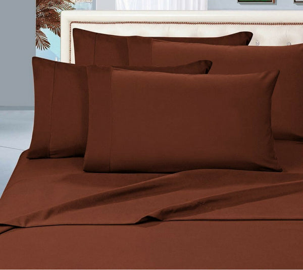 Egyptian Cotton Sheet Set 1000 Thread Count - Dark Brown