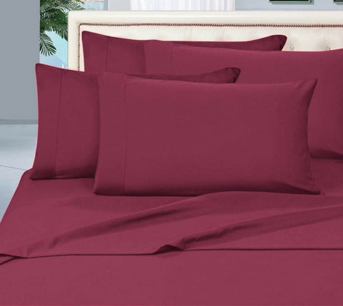 Egyptian Cotton Sheet Set 1000 Thread Count - Burgundy