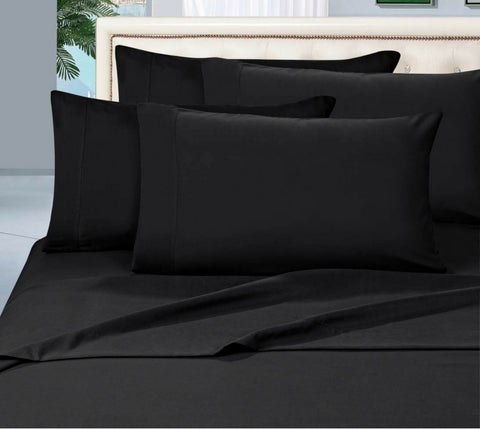 Egyptian Cotton Sheet Set 1000 Thread Count - Black