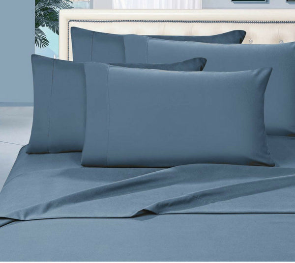 Egyptian Cotton Sheet Set 1000 Thread Count - Navy Blue