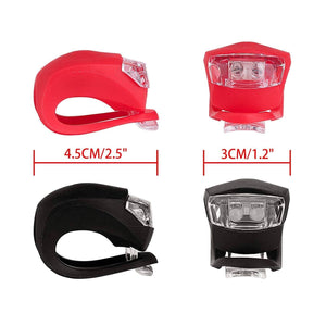 Front White & Rear Red Superbright LED 2 Lights Set - HPZ Pet Rover USA