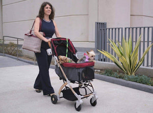 HPZ™ PET ROVER LITE Premium Light Travel Stroller for Small/Medium Dogs, Cats and Pets (Navy Blue) - HPZ Pet Rover USA