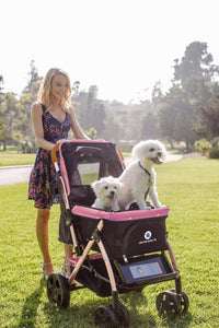 HPZ™ PET ROVER XL Extra-Long Premium Stroller for Small/Medium/Large Dogs, Cats and Pets (Pink) - HPZ Pet Rover USA