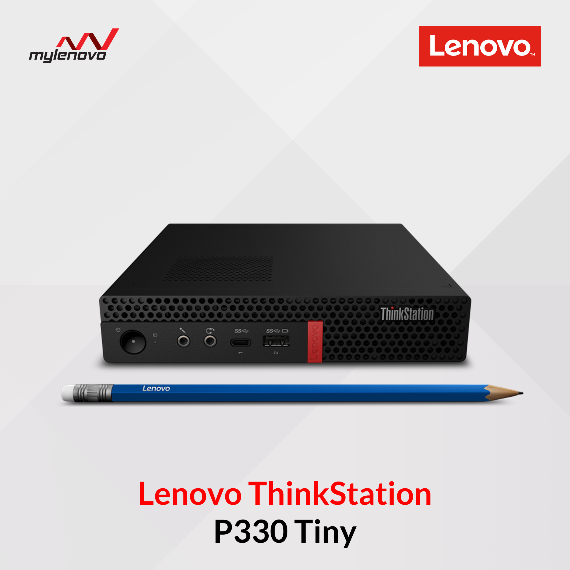 Lenovo ThinkStation P330 Tiny Desktop with Tiny-In-One 24 Gen 3 23.8\'\' Full HD Multi Touch Monitor (i3-8100/4GB/128GB)