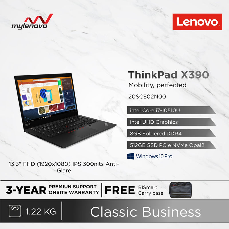 Lenovo ThinkPad X390 i7-10510U 8GB 512GB SSD