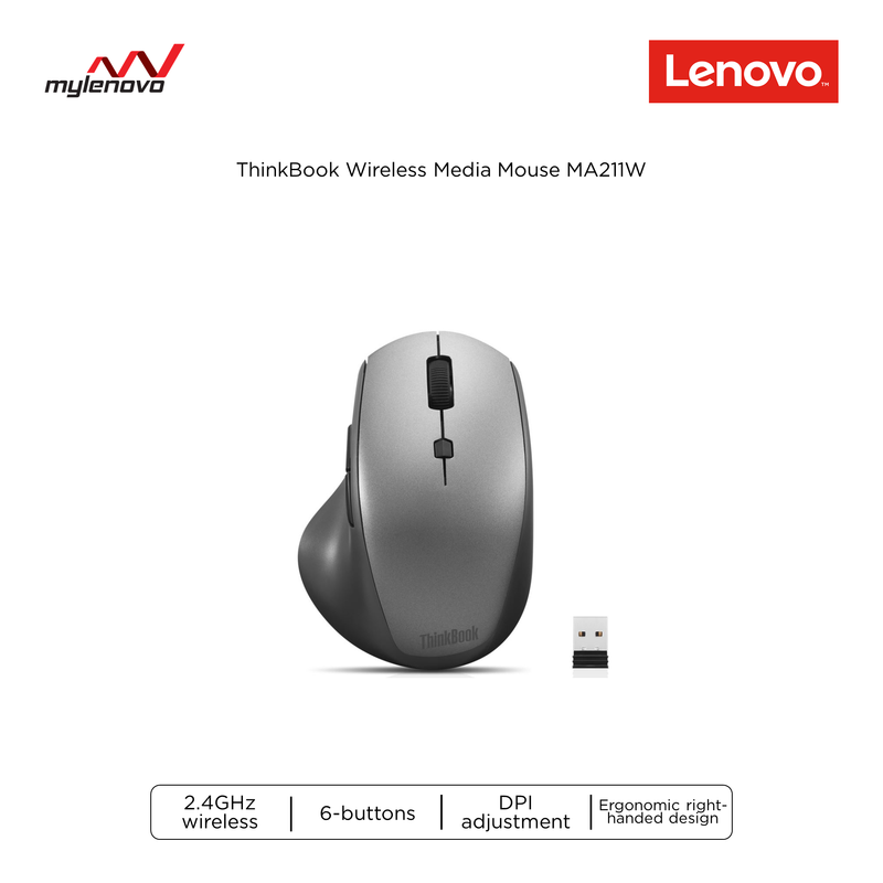 ThinkBook Wireless Media Mouse