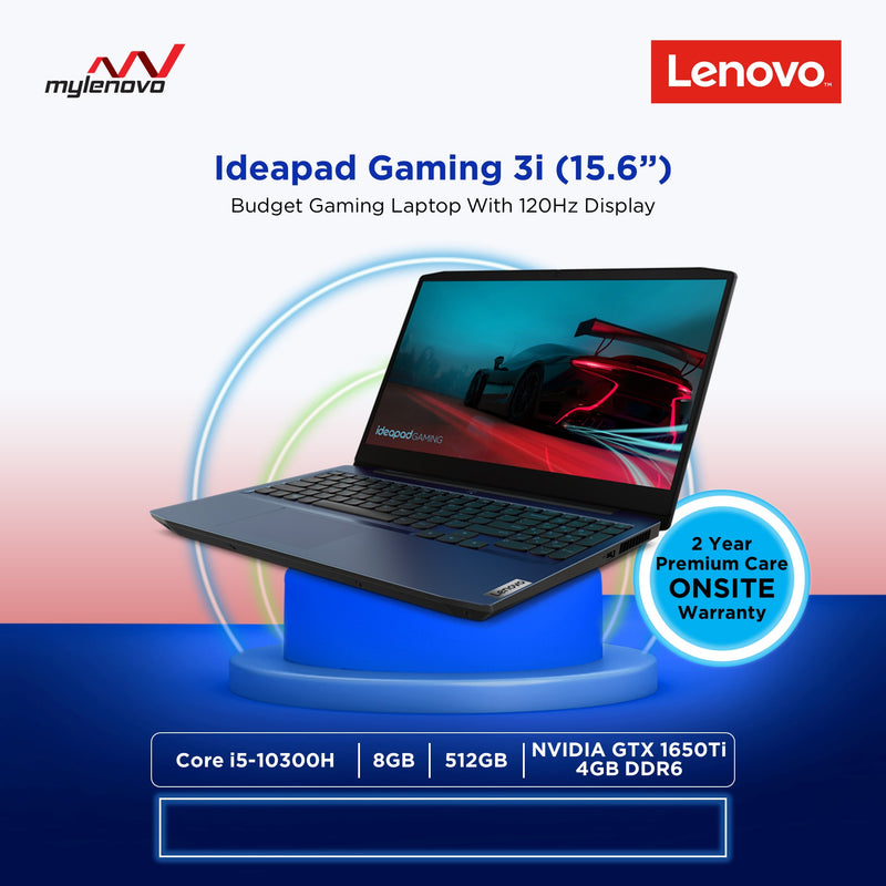 Lenovo Gaming 3 Core i5-10300H 8GB 512GB SSD GTX1650Ti NOT LEGION