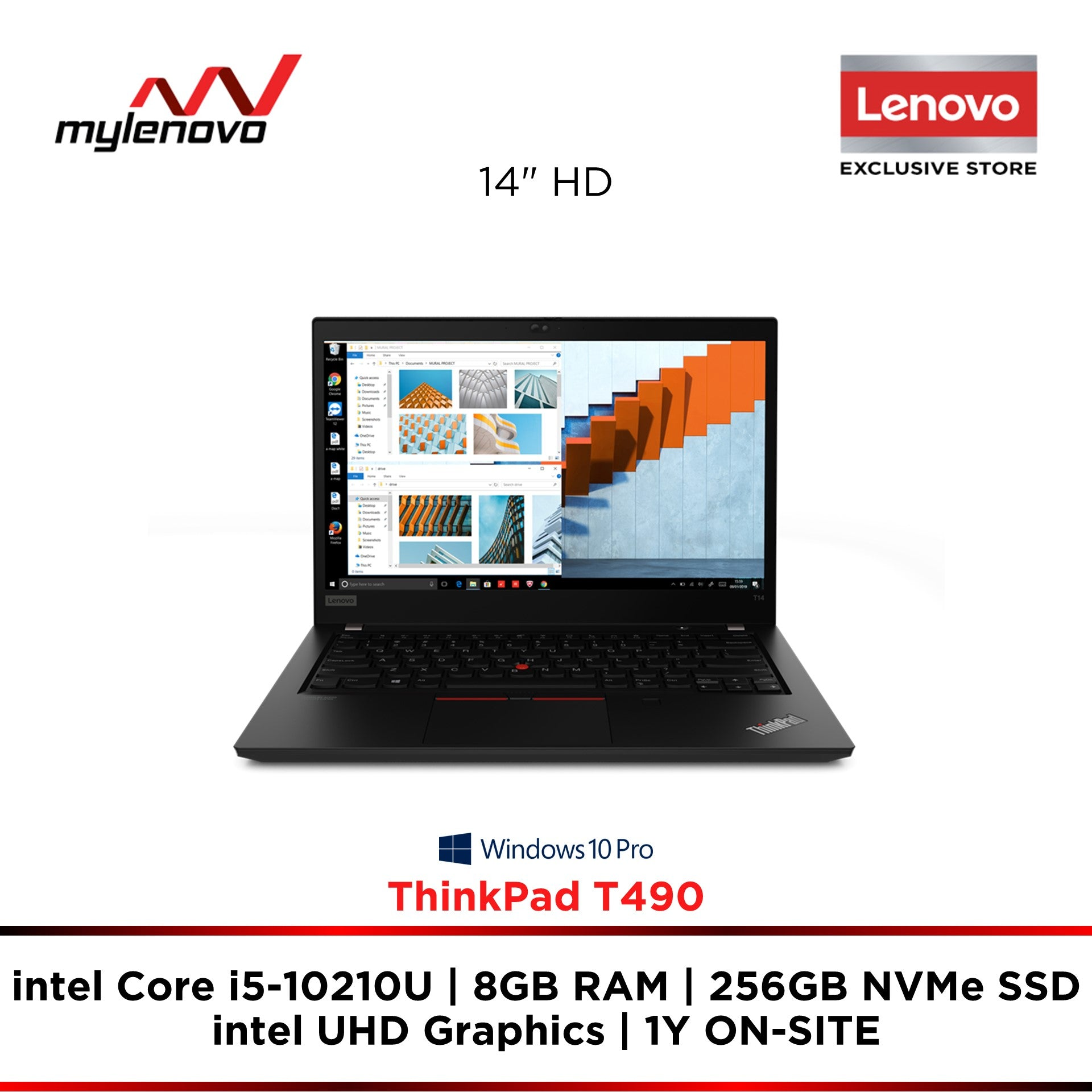 Lenovo ThinkPad T490 i5-10210U 8GB 256GB