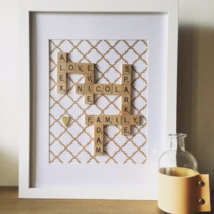 "11""x14"" Personalised Scrabble Frame"