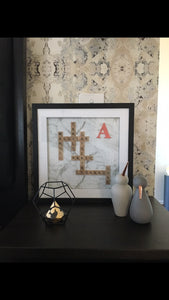 "15""X15"" Initial Personalised Scrabble Frame"