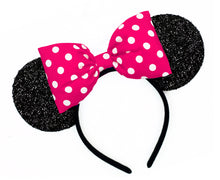 Classic Minnie Mouse Ears with POOFY Polkadot Bow - Pick Your Bow