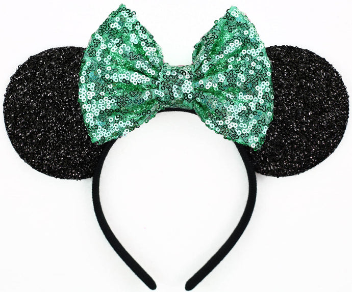 Minnie Mouse Ears with Mint Sequin Bow or Pick Your Bow