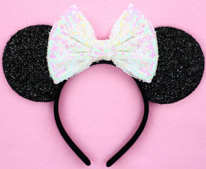 Minnie Mouse Ears with Unicorn Sequin Bow or Pick Your Bow