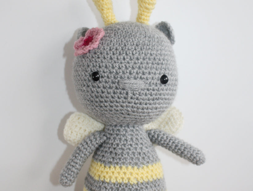 """Bella Bee"" Hand Crocheted Stuffed Toy"