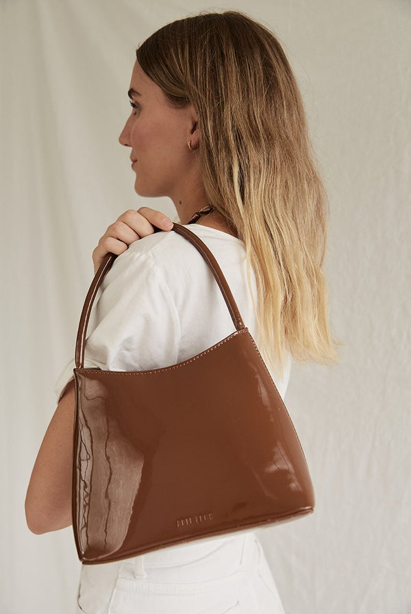 SHOP - BRIE LEON - chloe bag - muted brown patent