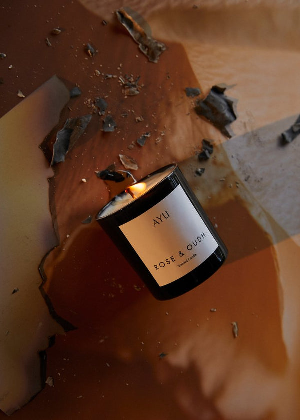 SHOP - AYU - candle - rose and oudh