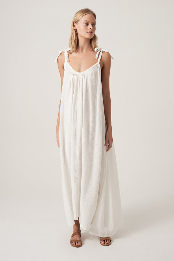 SHOP - Honour Apparel Tie Me Maxi - White