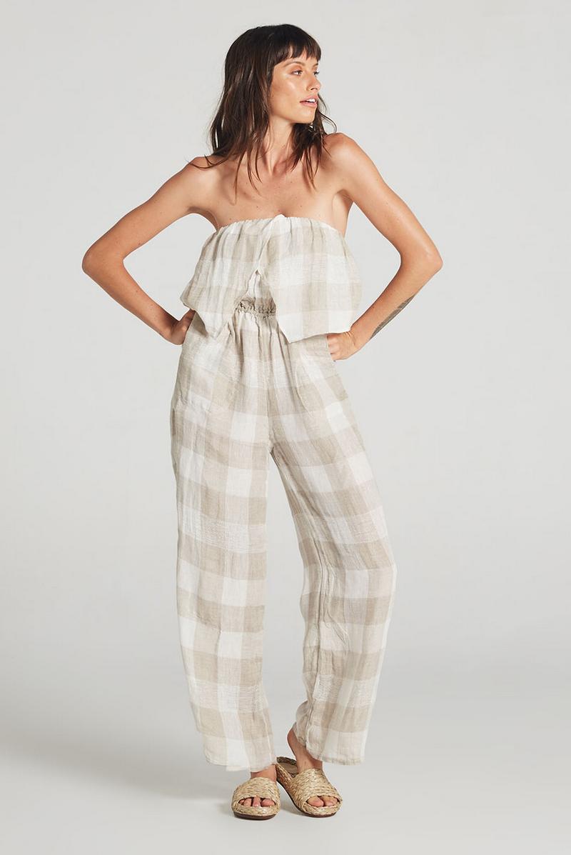estilo emporio - papillion jumpsuit - quadro check