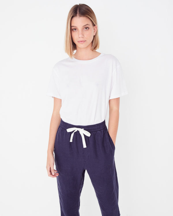 SHOP - ASSEMBLY LABEL - anya linen pant - indigo