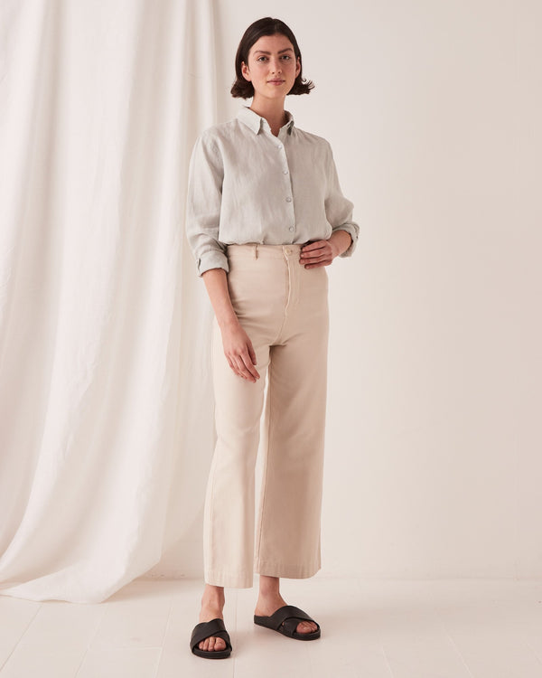 SHOP - ASSEMBLY LABEL - tala canvas pant - ivory