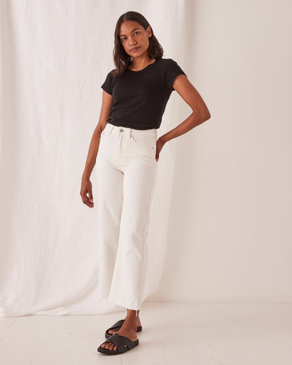 SHOP - ASSEMBLY LABEL - High Waist Flare Jean - Vintage White